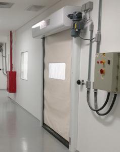 Portas Rápidas de Enrolar Inovadoor Modelo 601 Isoclean
