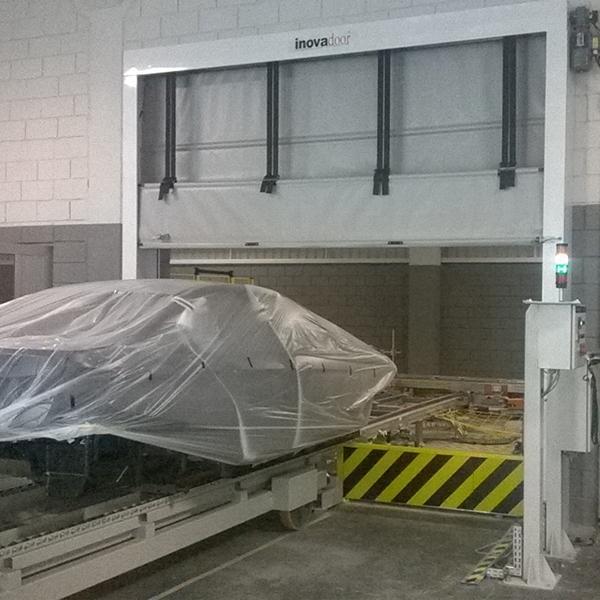 Portas Rápidas de Enrolar Inovadoor Modelo 701 Isodry